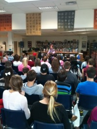 Kate Reid at Frontenac Secondary School November 22, 2012