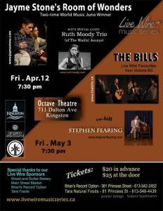 Live Wire Music Series April and May 2013 Concerts